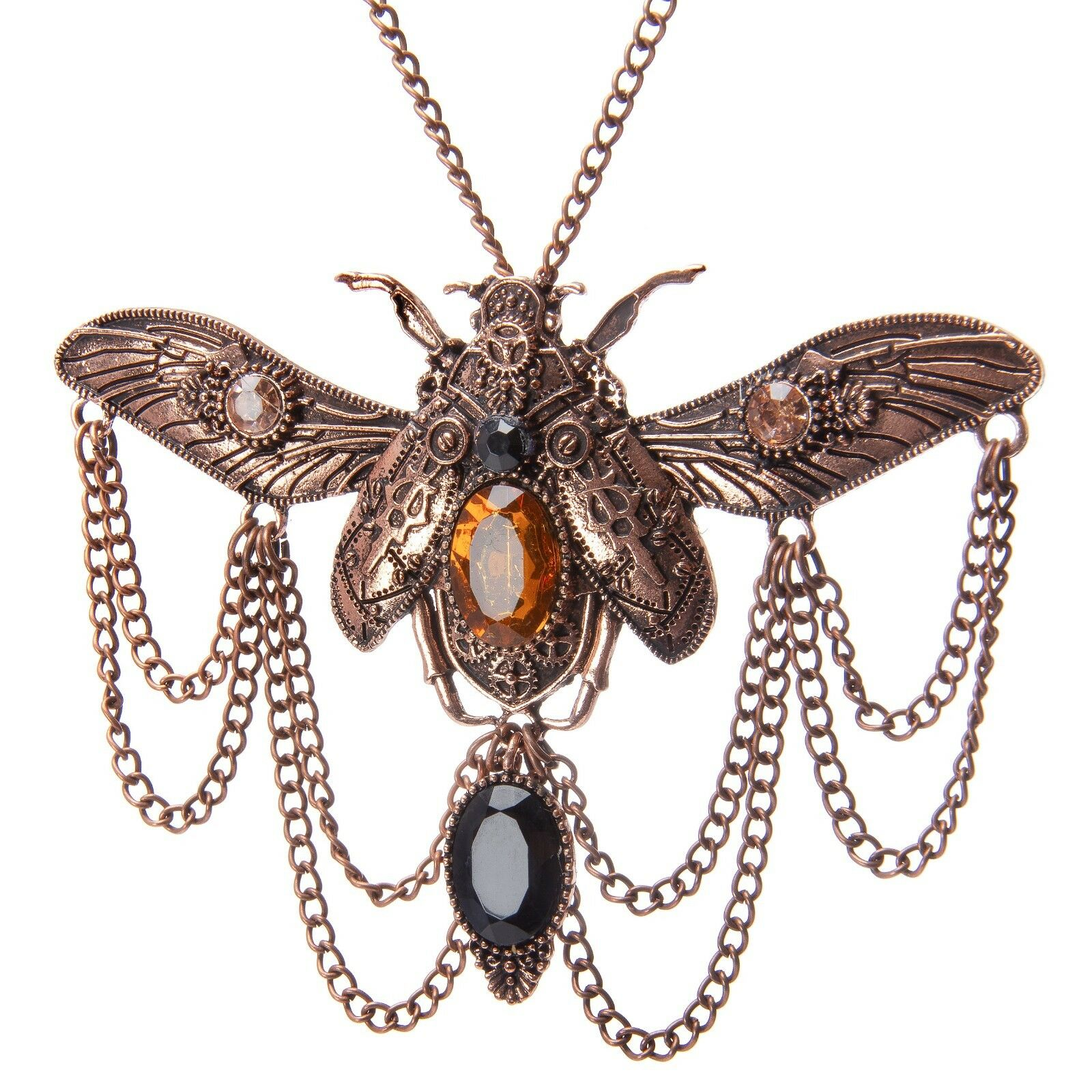 Gothic Steampunk Scarab Beetle Necklace