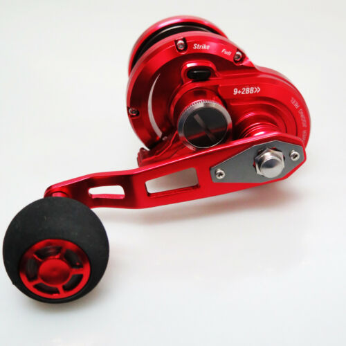 POSEIDON 50SL JIGGING REEL RIGHT SALTWATER RED//BLK CONVENTIONAL Fedex 2day to Us
