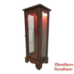 Image Is Loading Vintage Pine Chippendale Slender Lamp End Table Pedestal