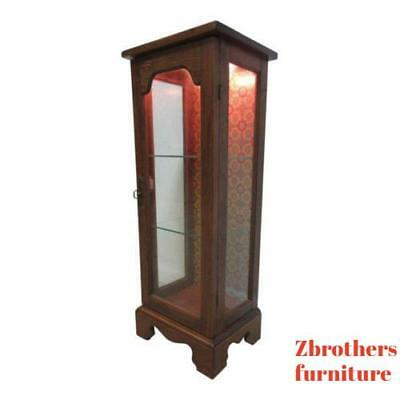 Lamp End Table Pedestal Curio