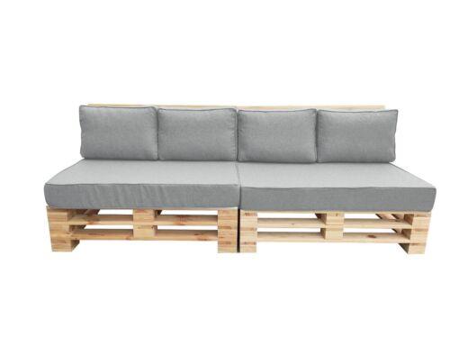 Pallet Cushion SEVILLA2  SET W-PROO Fabric Euro Pallet Size for Outdoor Garden