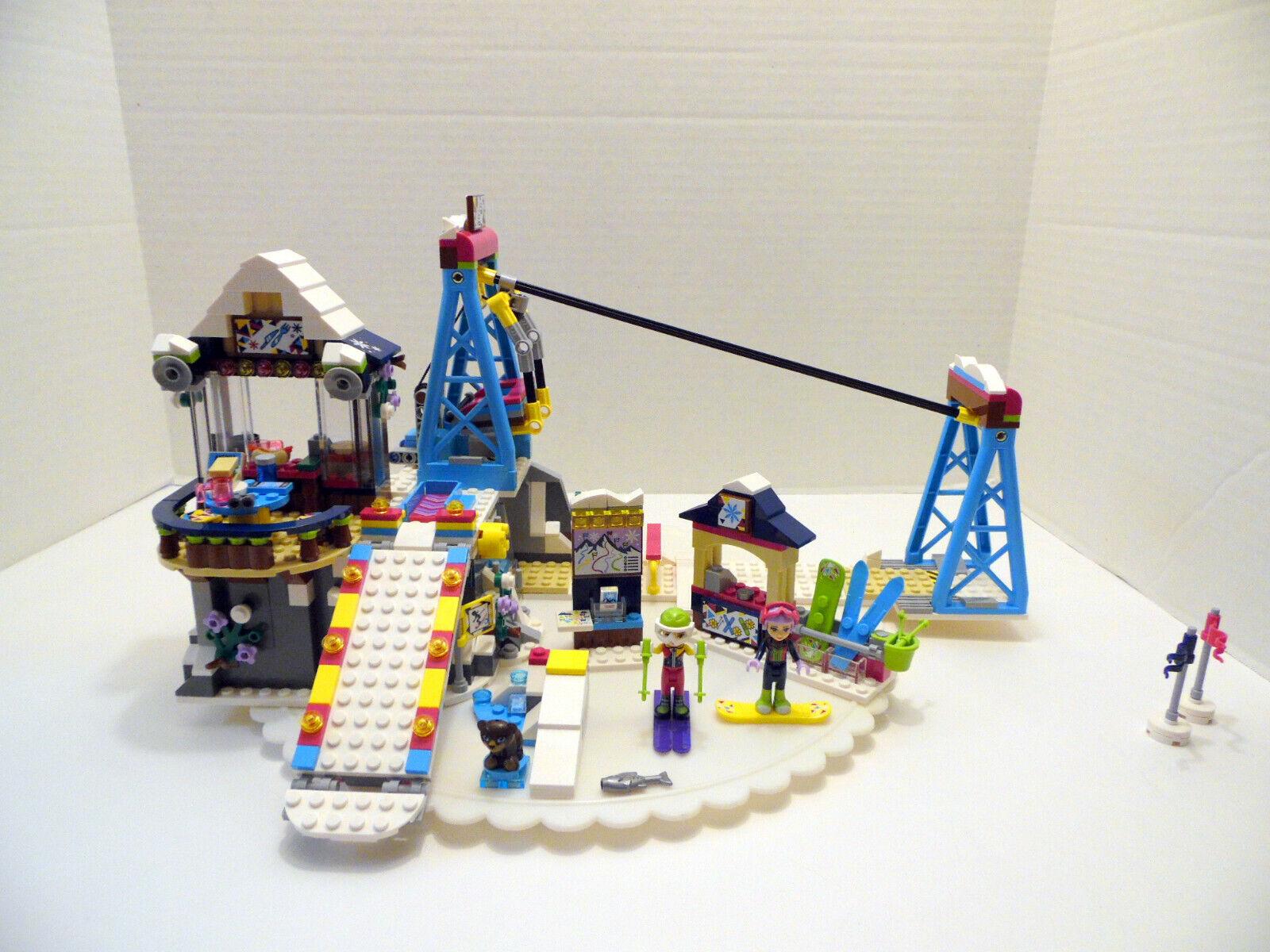 41324 Lego Complete Build 100% 2017 Lift Ski Resort Snow