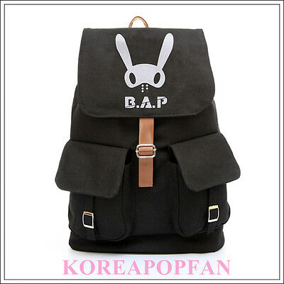 B.A.P BAP BABY Kim Him Chan CANVAS SCHOOL BAG BACKPACK NEW