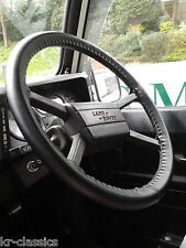 LEATHER STEERING WHEEL COVER / GLOVE LAND ROVER 90 127 110 130 COUNTY DEFENDER