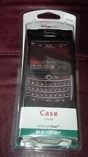 NEW VERIZON BLACK LEATHER CASE FOR BLACKBERRY TOUR 9630 CELL PHONE