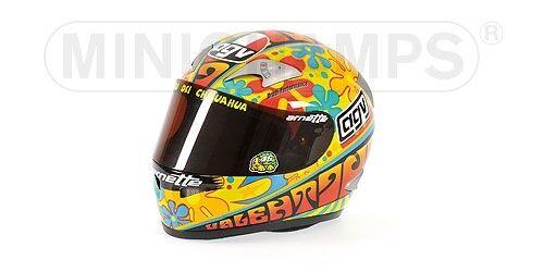 Helmet AGV Valentino Rossi GP Valencia 2003 1 2 Replica Model MINICHAMPS
