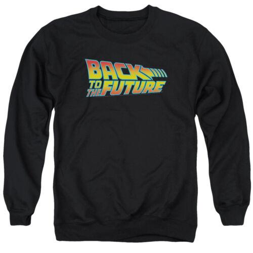 Back To The Future 80/'s Michael J Fox SciFi Movie Logo Adult Crewneck Sweatshirt