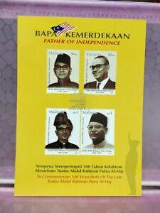 Malaysia-2003-Father-of-Independenc-Bapa-Kemerdekaan-Tunku-Abdul-Rahman-Postcard