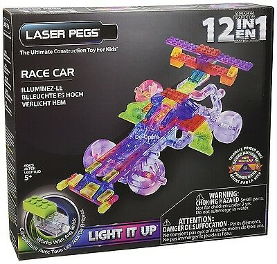 Kids 12 en 1 laser pegs butterfly light up construction kit nouveau