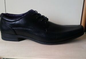 Brand-New-in-box-mens-smart-black-shoes-size-13