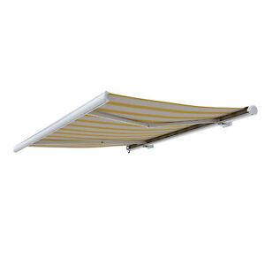Markise-Kassettenmarkise-Sonnenschutz-elektrisch-450x350cm-Beige-Gelb-B-Ware