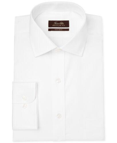 $145 TASSO ELBA Men REGULAR-FIT WHITE LONG-SLEEVE BUTTON DRESS SHIRT 16 32//33 L