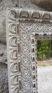 Handcrafted Antique Mirror Baro Cappuccino