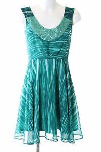ORSAY A-Linien Kleid türkis abstraktes Muster Elegant ...