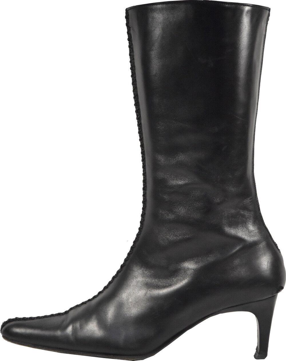 W021 PARALLELE PARALLELE PARALLELE botas A TALON negro T.37.5 UK 4.5 VALEUR  descuento