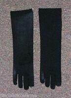 Long Black Nylon Child Elbow Length Dress Nylon Gloves Costume Accessory