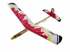 Lanyu Hand Launch Balsa Wood Glider Plane DIY Build&Paint Model Kit, US 8018