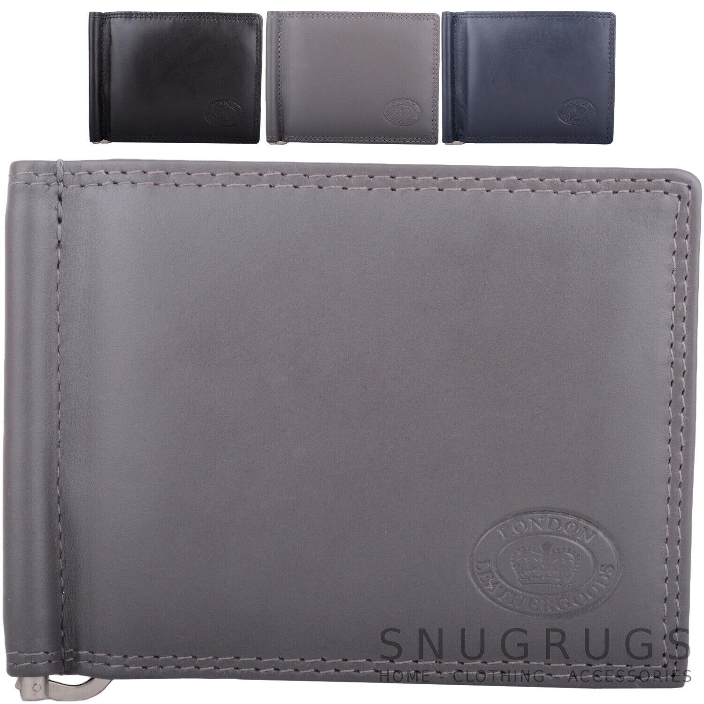 Herren Doppelt Gefaltete Zweiton Farbe Rfid Echtleder Kreditkarte Brieftasche