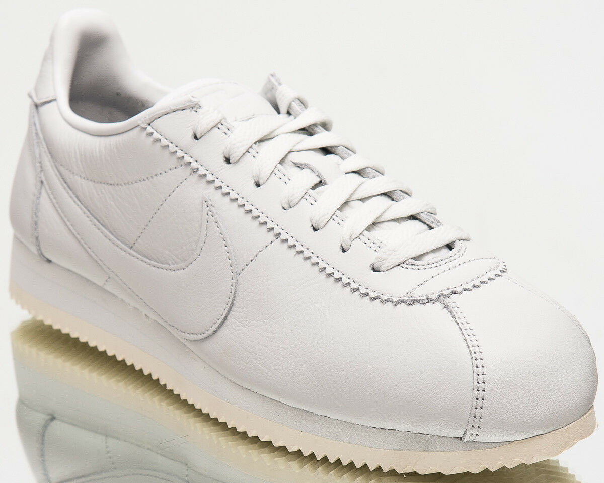Seasonal clearance sale Nike Classic Cortez Premium Men New Shoes Off White Sail Sneakers 807480-102