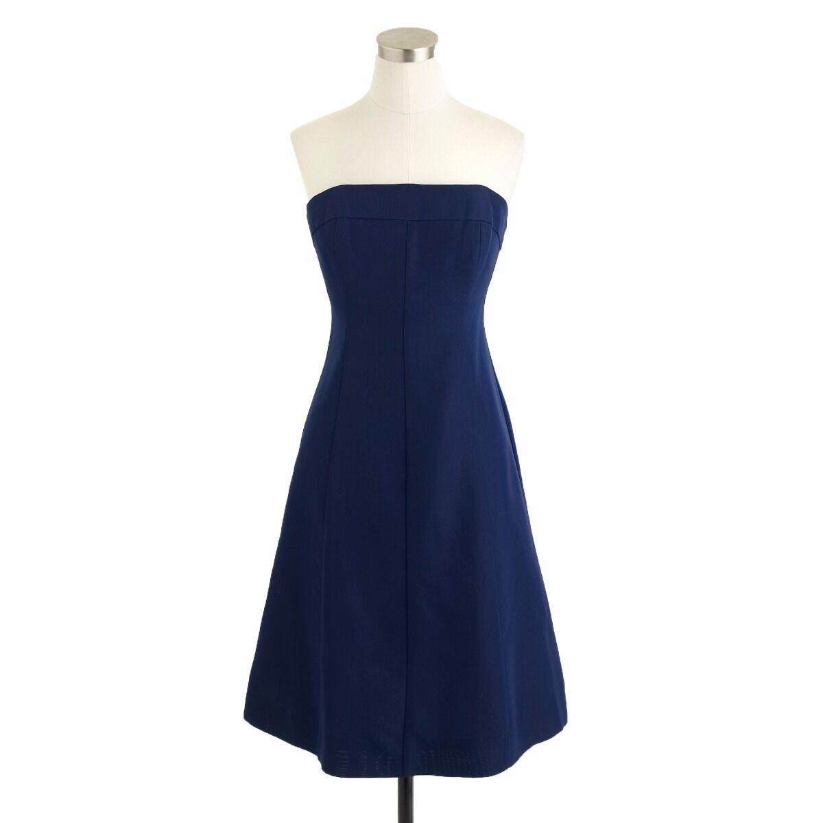 J CREW MAISIE DRESS IN CLASSIC FAILLE 6 S Small M Medium Haven bluee Navy NEW