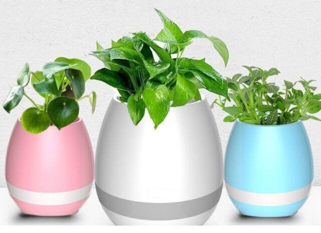 Altavoz Inteligente Maceta  Bluetooth Inalámbrico Juegos LED Luz de Noche Maceta
