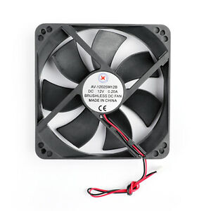1PC-12V-0-2A-Cooling-Computer-Fan-Ball-Bearing-120-25mm-DC-Brushless-2-Pin-T3