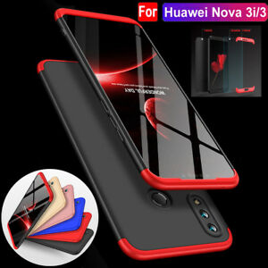 Details about For Huawei Nova 3i/3 Note10 360° Protective Hybrid Armor Case  Cover+Temper Glass