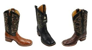 7fb2bc2bbe2 Details about MEN'S RODEO COWBOY BOOTS OSTRICH PRINT LEATHER WESTERN BOOTS