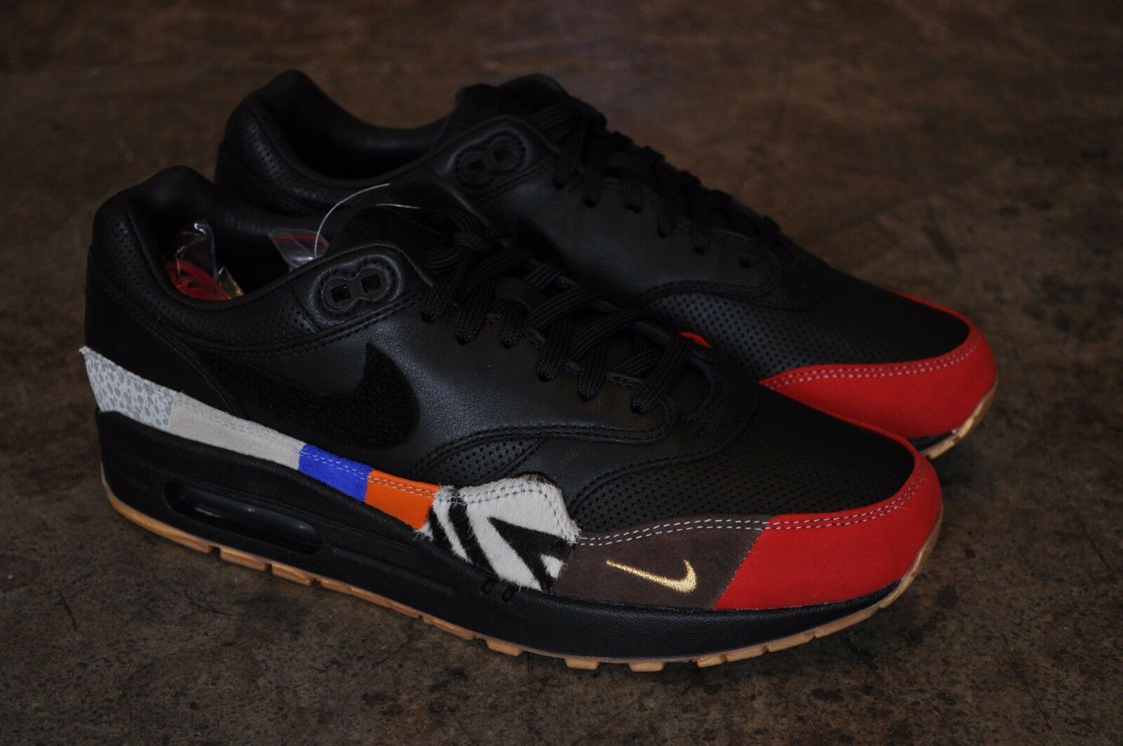 Nike AIR MAX 1  Master  - - - Nero Nero-University Rosso c0d021