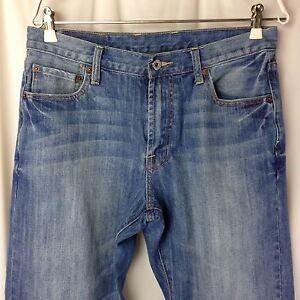 Men-039-s-Lucky-Brand-165-Straight-Leg-Distressed-Denim-Jeans-Sz-32-x-31-7MP1000