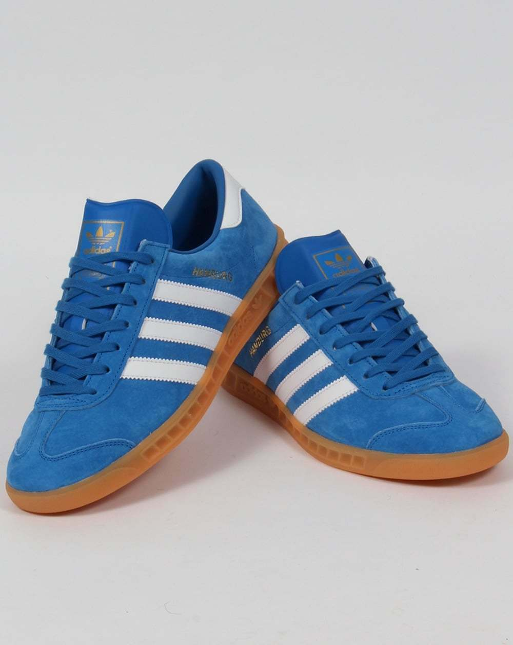 adidas Hamburg Trainers Trainers Trainers in Azulbird Azul & Blanco - suede gum sole retro classic a0e7a4
