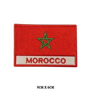 MOROCCO-National-Flag-Embroidered-Patch-Iron-on-Sew-On-Badge-For-ClotheS-etc