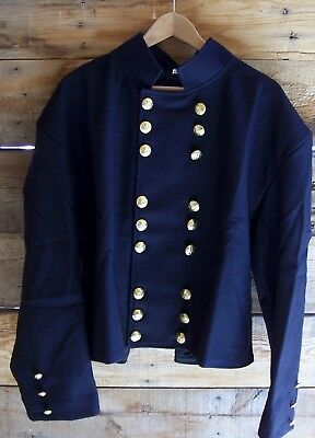 civil war union officers double breasted navy blue shell jacket velveteen 48