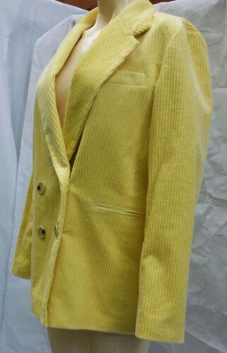 Rrp 99 Size Zara L Nwt Corduroy Blazer £79 Doublebreasred Yellow RwvqfZ