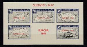 Europe-Cept-1964-Guernsey-Sark-Block-MNH