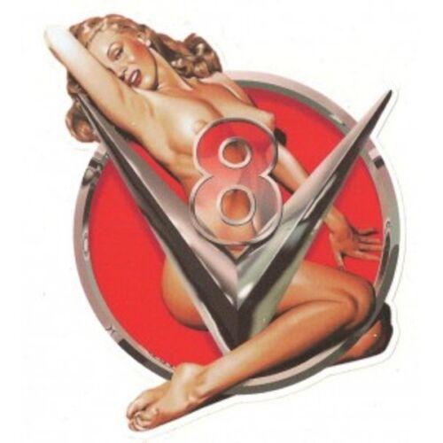 V8 Right Pin Up Marilyn Sticker droit
