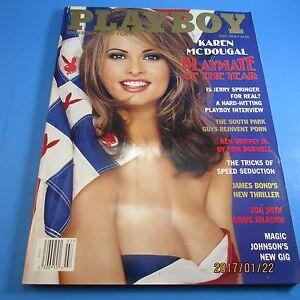 Image Is Loading Playboy Magazine July 1998 Poty Karen Mcdougal Lisa