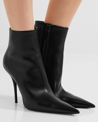 negozio online donna Leather Pointed Toe nero Ankle Riding stivali High High High Heels Stilettos SZ F942  prezzi eccellenti