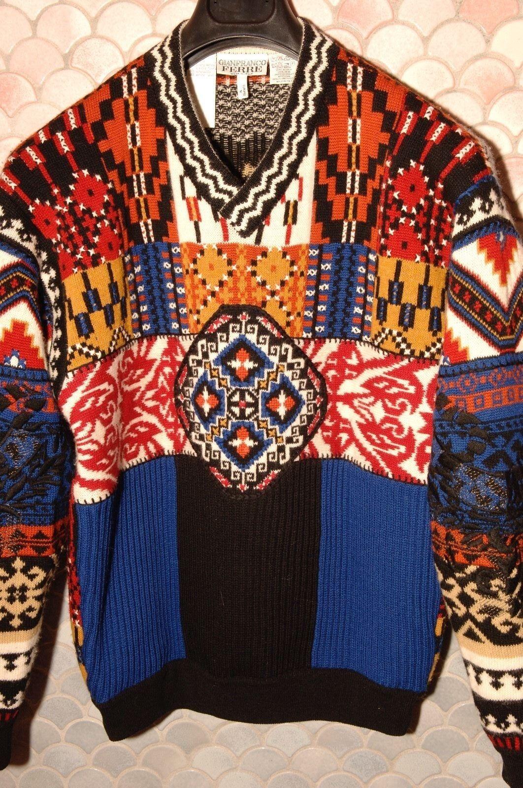 Gianfranco Ferre Winter Sweater, NOS, Mint, Size M, Italian 50