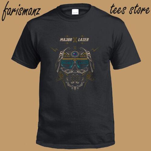 New Major Lazer Atmosphere Electro Music Logo Men/'s Black T-Shirt Size S to 3XL
