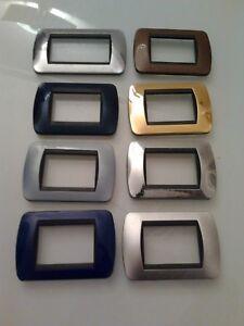 Placche bticino originali serie living international in metallo 3 moduli l4803 ebay - Placche living international ...