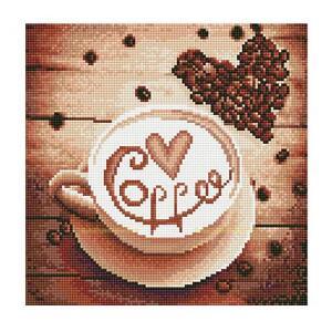 Kaffee 5d Diy Diamant Stickpackung Kreuzstich Bunt Wandbilder