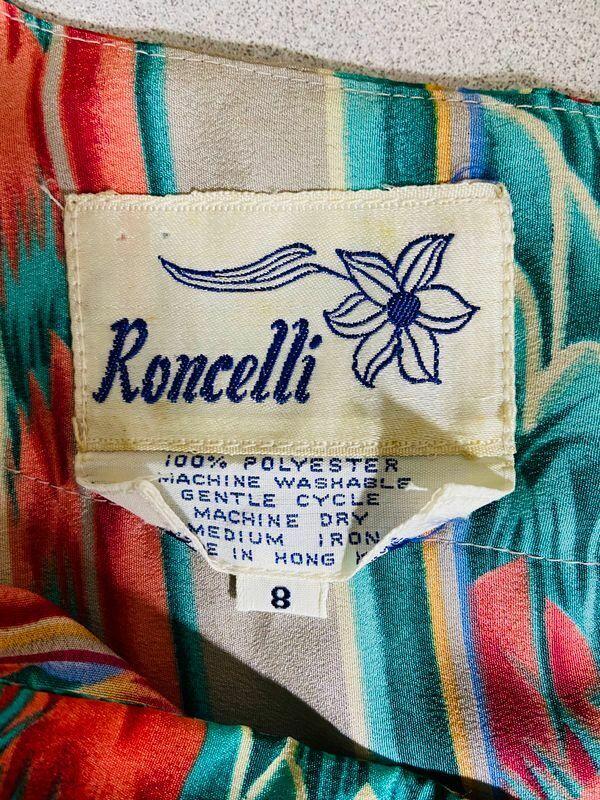 Roncelli Vintage Multicolor Striped & Floral Prin… - image 3