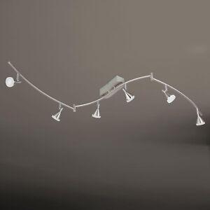 WOFI-lampara-LED-de-techo-Cameron-6-Luces-Niquel-Spot-AJUSTABLE-30-vatios-2580LM