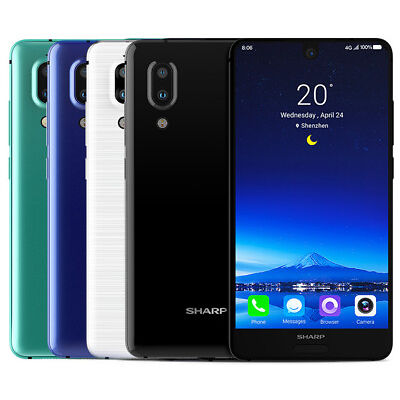 "Sharp AQUOS S2 FS8010 64GB (Factory Unlocked) 5.5"" 4GB RAM Blue White Black"