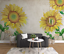 3D Sonnenblume H1417 Tapete Wandbild Selbstklebend Abnehmbare Aufkleber Wend