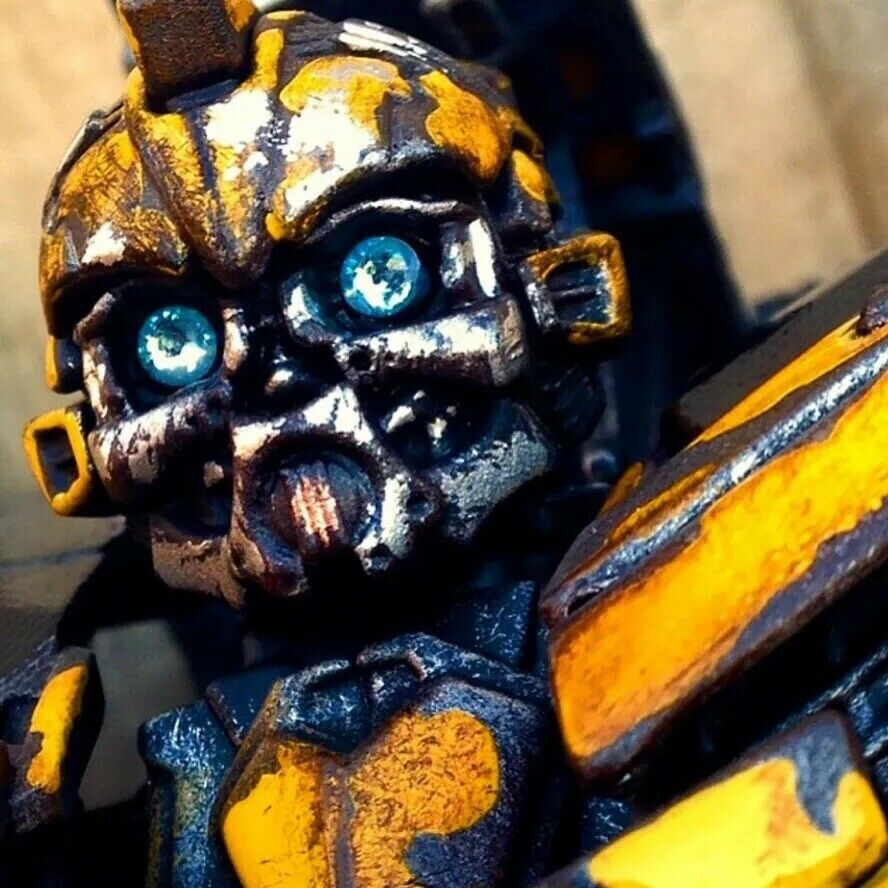 Transformers Custom Dotm Bumblebee Leader Class   Distressed And High Detail .