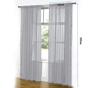 2-Panels-Of-Top-Quality-Net-amp-Voile-Curtains-100-200CM-Pair-Durable-U2K