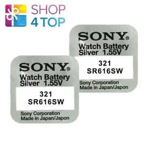 2-SONY-321-SR616SW-BATTERIES-SILVER-OXIDE-1-55V-WATCH-BATTERY-EXP-2021-NEW