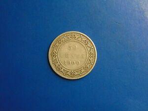 Canada-50-Cents-KM-6-1900-no-mint-mark-NEW-FOUNDLAND-A764-I-COMBINE-SHIPPING